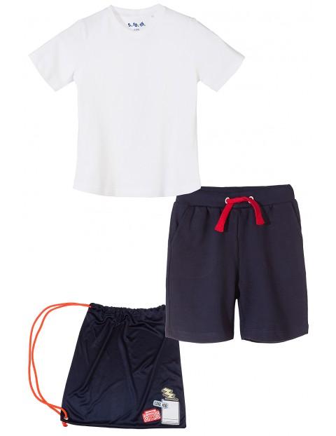 Komplet sportowy t-shirt+spodenki 1P3502