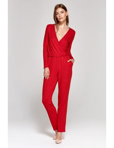 Kombinezon damski- czerwony