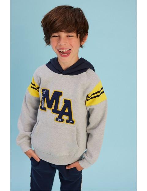 Bluza dresowa chłopięca szara z kapturem