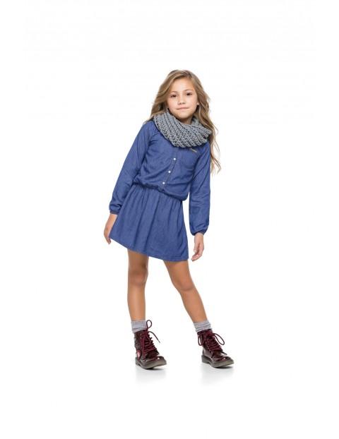 Sukienka dziewczęca niebieska