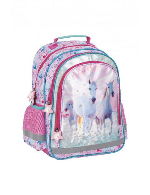 Plecak szkolny dla dziewczynki Konie