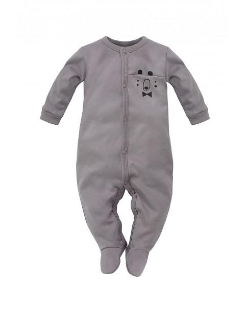 Pajac niemowlęcy szary Bears Club