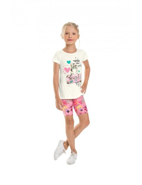 Komplet dziewczęcy bluzka+ szorty