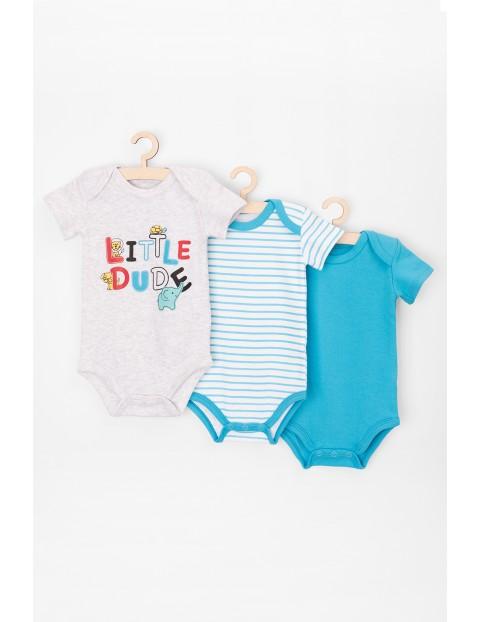 Body niemowlęce z krótkim rękawem 3pak 100% bawełna