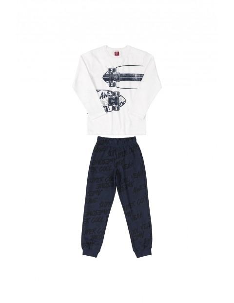 Komplet chłopięcy - bluzka z deskorolka i spodnie dresowe