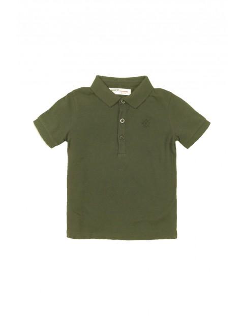 Bluzka khaki z kołnierzykiem