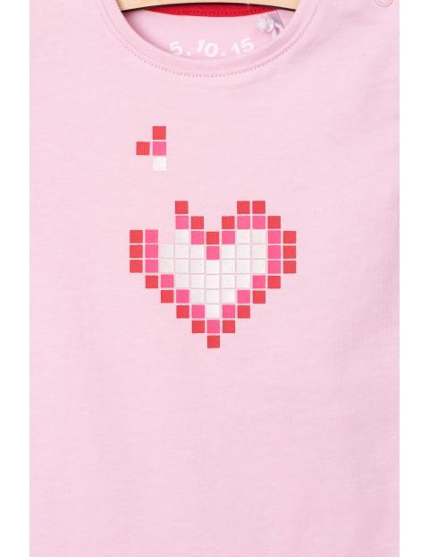 Body dla dziewczynki - różowe z serduszkiem
