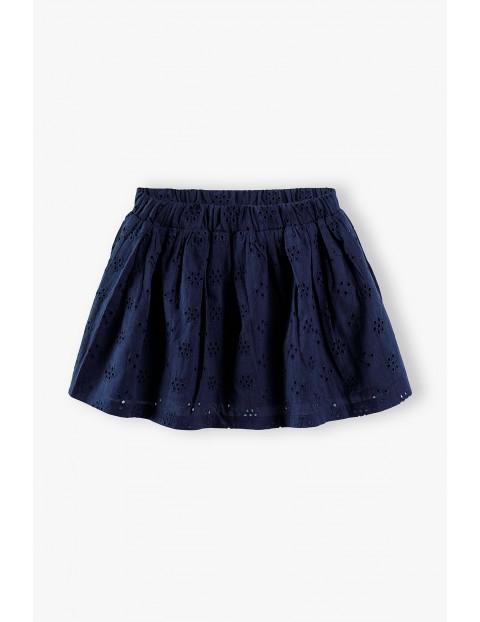 Granatowa rozkloszowana spódniczka dla dziewczynki
