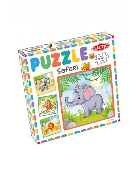 Puzzle 6 x 4  Moje pierwsze puzzle: Safari wiek 3+