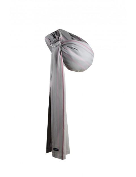 Chusta Zaffiro Hug Me Diamond paski różowo-szare 3,5-13kg
