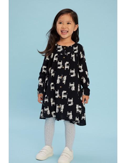 Sukienka dziewczęca w zebry z wiskozy