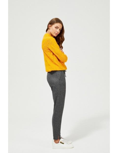 Spodnie damskie z wiązaniem w pasie