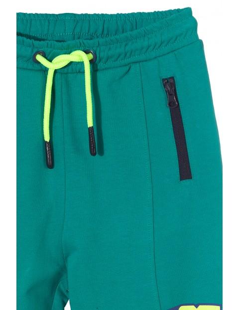 Spodnie dresowe chłopięce- zielone