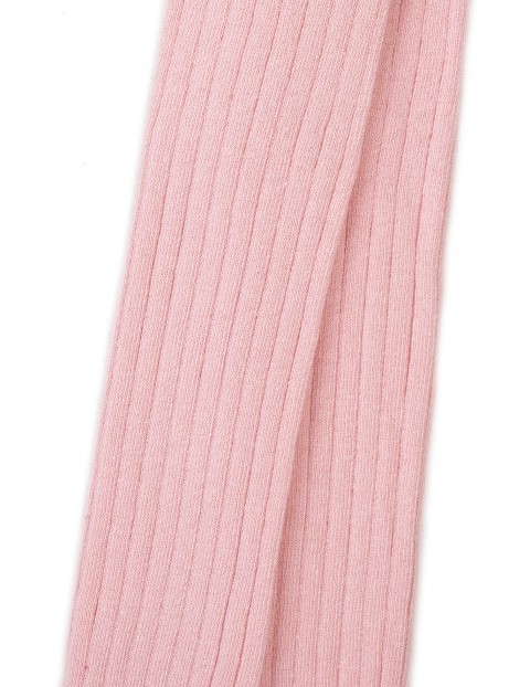 Rajstopy dziewczęce różowe prążkowane