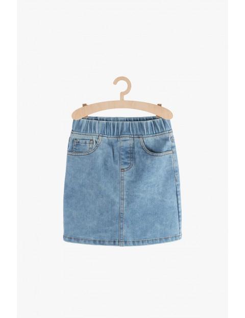 Spódnica jeansowa z kieszeniami-mini