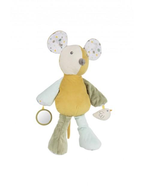 Pluszowa przytulanka dla niemowląt z piszczkiem- Myszka 0 msc+