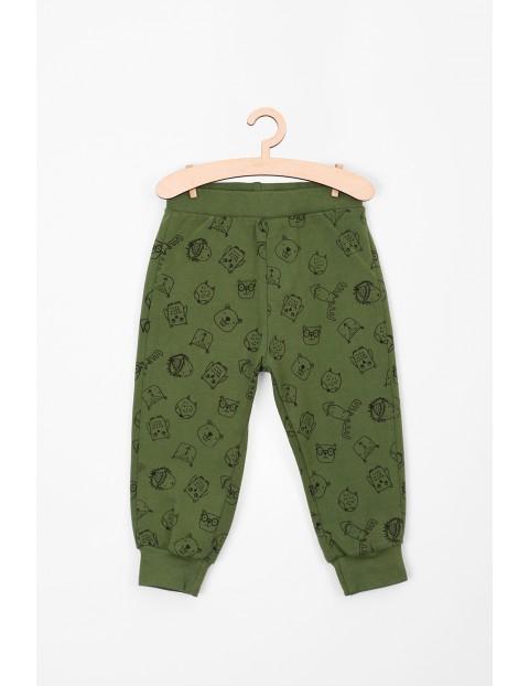 Spodnie dresowe dla niemowlaka- zielone