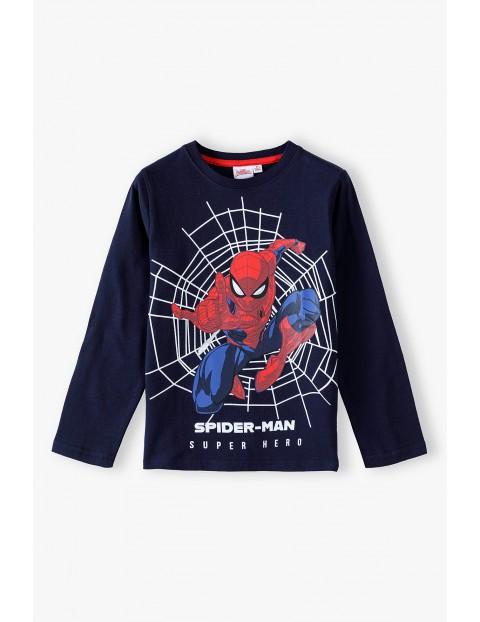 Bluzka chłopięca bawełniana granatowa Spiderman