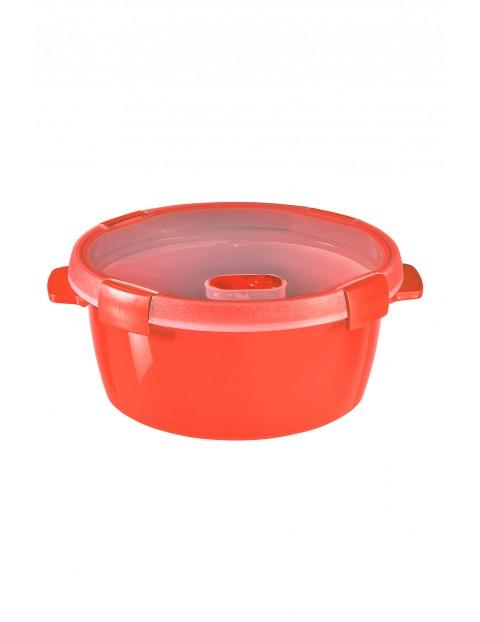 Pojemnik na żywność okrągły STEAMER  Curver 22x22x10cm - czerwony