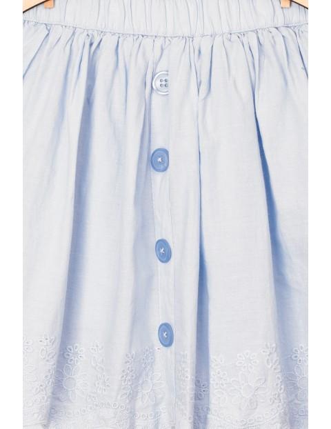 Tkaninowa spodniczka dla dziewczynki- haftowana