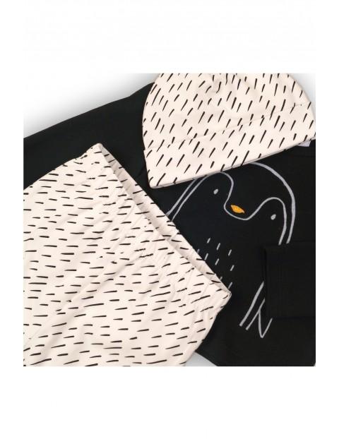 Komplet chłopięcy bluzka- spodnie- czapka