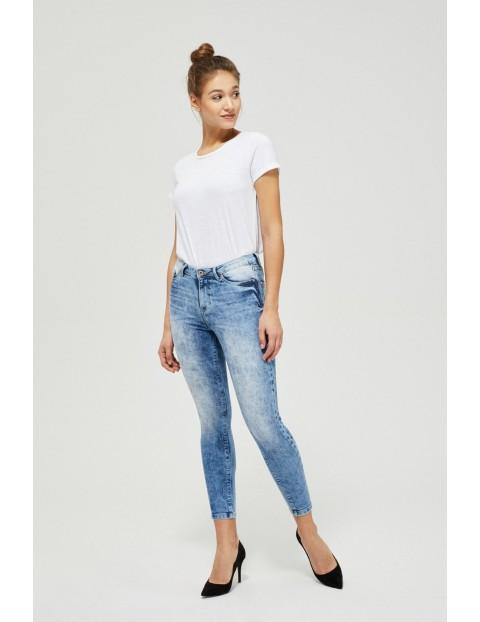Spodnie damskie  jeansowe typu rurki- niebieskie