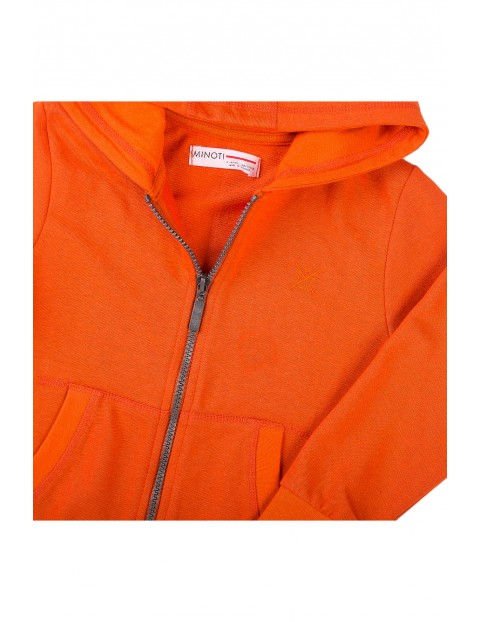 Bluza dresowa niemowlęca z kapturem pomarańczowa