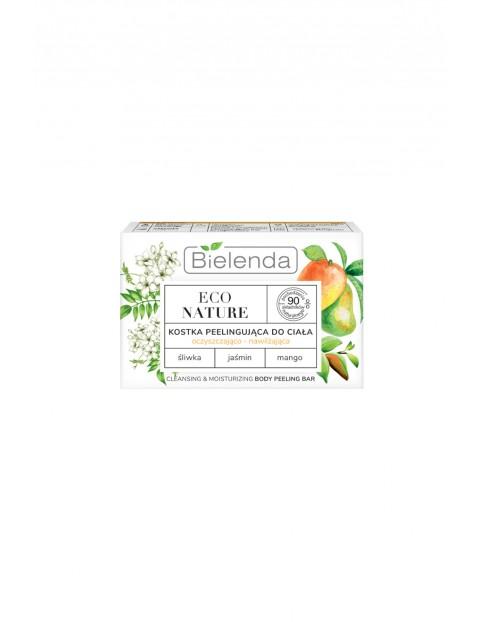 Bielenda ECO NATURE - ŚliwkAa + Jaśmin + Mango - Kostka peelingująca, oczyszczająco - nawilżająca - 80 g