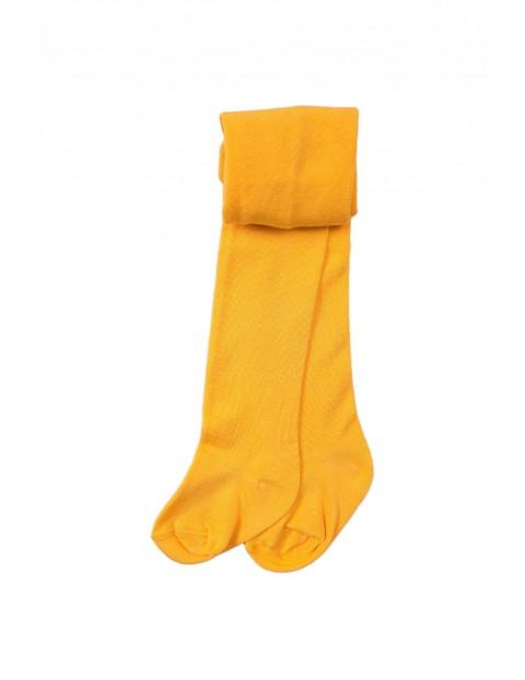 Rajstopy dziewczęce - żółte gładkie