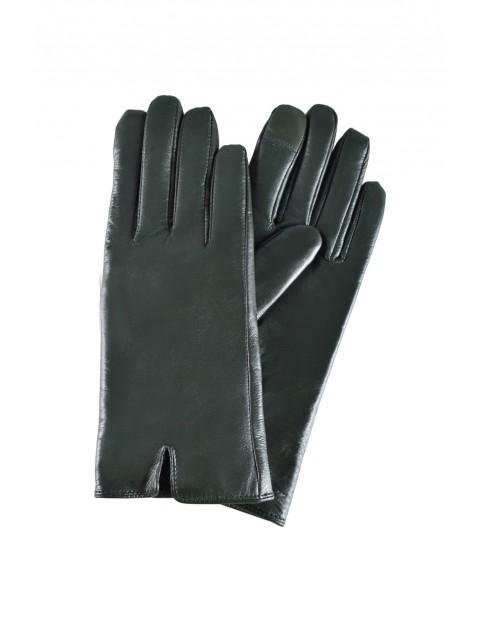 Rękawiczki damskie skórzane antybakteryjne - zielone