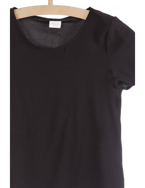 Bluzka z krótkim rękawem- czarna