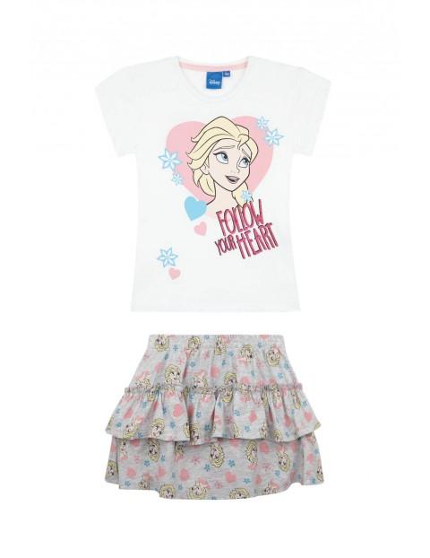 Komplet dziewczęcy Kraina Lodu- spódnica i bluzka