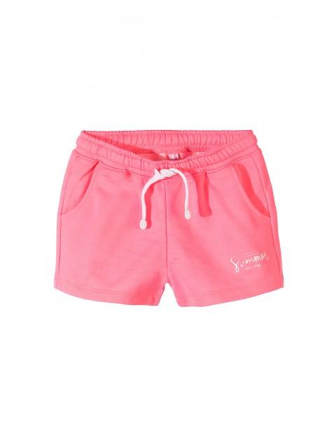 Różowe szorty dziewczęce-summer