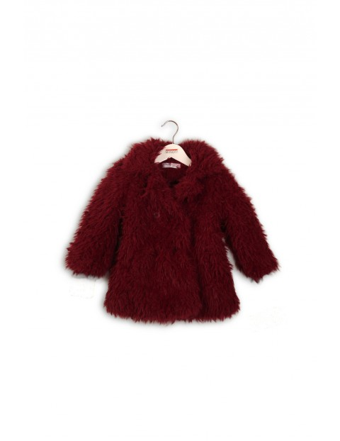 Płaszcz dziewczęcy czerwony