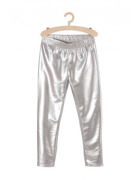 Leginsy dla dziewczynki- srebrne