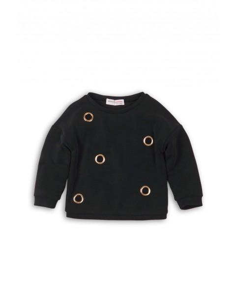 Bluza dresowa dla dziewczynki czarna