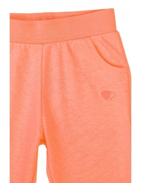 Spodnie dresowe niemowlęce brzoskwiniowe