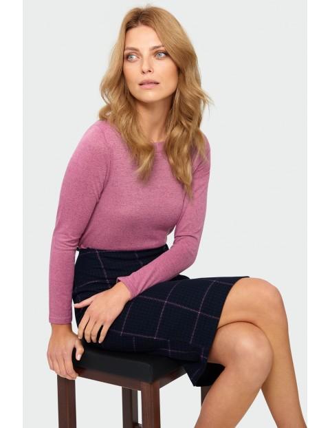 Sweter damski - różowy