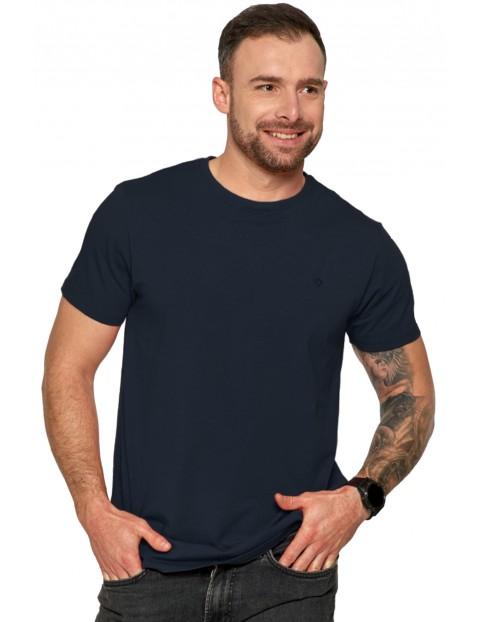 Klasyczny T-shirt męski idealny do casualowych stylizacji - granatowy