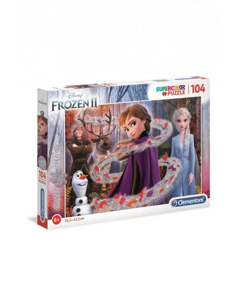 Puzzle Frozen 2 z brokatem - 104 el