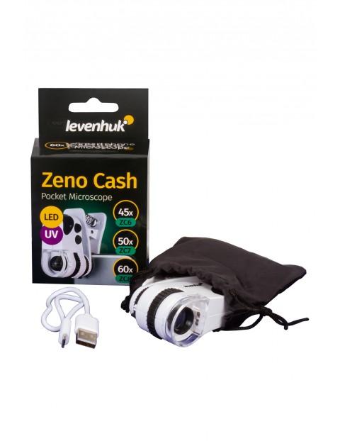 Mikroskop kieszonkowy Levenhuk Zeno Cash ZC8 - biały