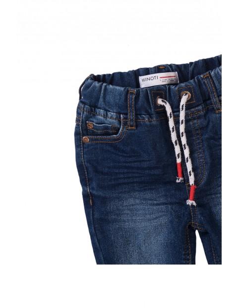 Spodnie chłopięce niebieskie z efektem sprania