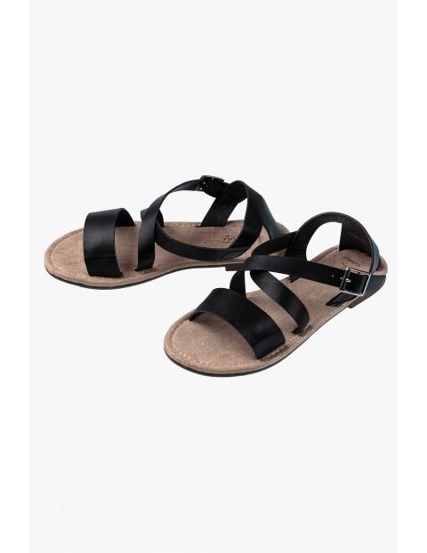 Sandałki dziewczęce czarne