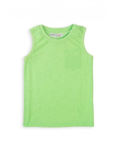 Koszulka chłopięca w kolorze limonkowym