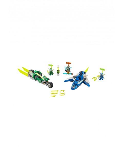 LEGO® NINJAGO® Wyścigówki Jaya i Lloyda - 322 elementy wiek 7+
