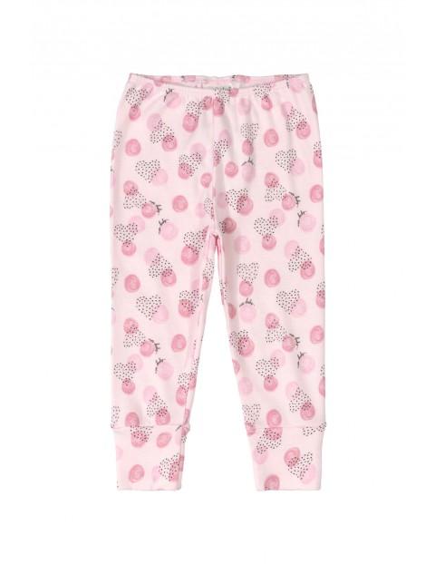 Spodenki niemowlęce we wzorki - różowe