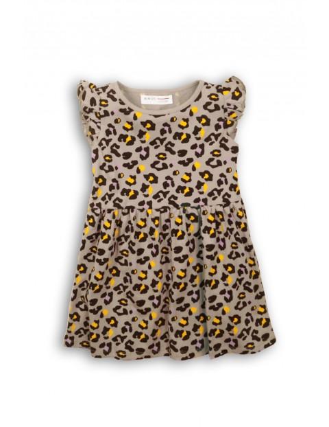 Szara sukienka w cętki dla dziewczynki