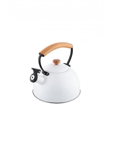 Czajnik nierdzewny w kolorze białym COBI 2,3L
