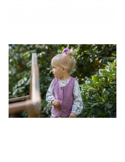 Dziewczęca kamizelka z drobnego, miękkiego sztruksu