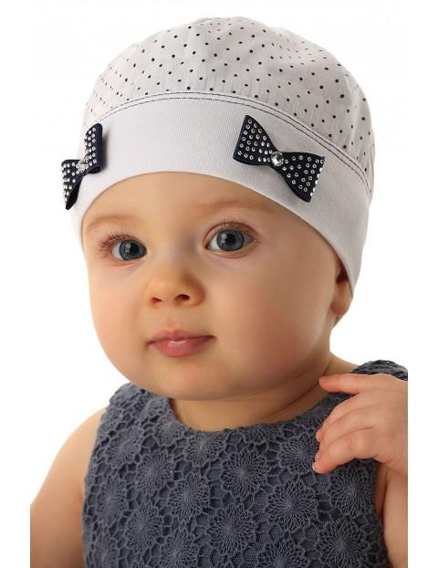 Czapka niemowlęca biała100%bawełna5X34C3